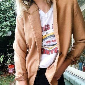 Camel Wool Vintage Blazer
